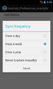 android preferences android preferences activity exle tutorial preference tutorial