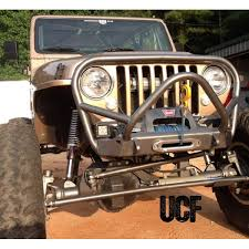 custom jeep bumpers cover fabworks llc ucf yj tj rock crawler front bumper