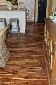 on prairie hill our acacia hardwood floor in the kitchen