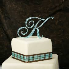 wedding cake toppers letters monogram cake toppers