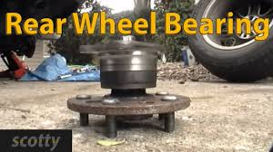 how to replace rear wheel bearing in your car youtube