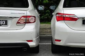 toyota old gallery old and new toyota corolla altis compared image 222550
