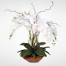 silk orchids real touch phalaenopsis silk orchid arrangement with curly willow