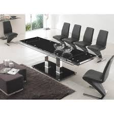 Black Glass Extending Dining Table Stunning Black Extendable Dining Table And Chairs 24 For Your