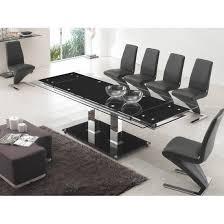 Black Glass Extending Dining Table Stunning Black Extendable Dining Table And Chairs 24 For Your
