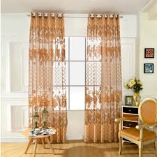 online shop small fresh style large grid floral drape panel sheer