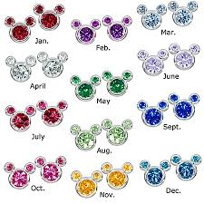 mickey mouse earrings disney earrings birthstone mickey mouse select color