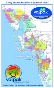 Map Of Southwest Florida by Service Areas Valpak Of Southwest Florida
