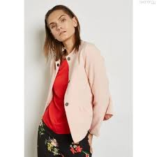 light pink blazer womens ginger peplum blazer light pink womens blazers 2372
