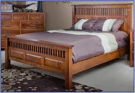 amish handcrafted mission style headboard footboard queen bed