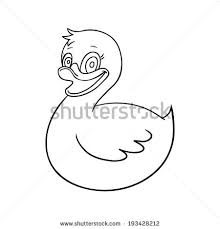 ducky kid toy black white isolated stock vector 454711597