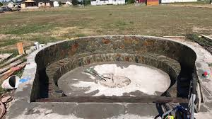sunken fire pit youtube