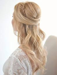 long wedding hairstyle with gorgeous side braid deer pearl