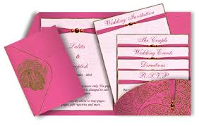 henna invitation bright pink pocket style email wedding invitation