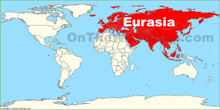Wold Map Eurasia Location On The World Map