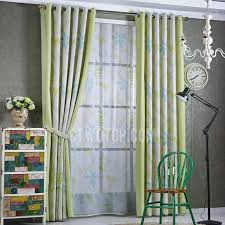 Patio Door Curtains Green Leaf Patio Door Curtains For Living Room