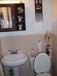 decorating half bathroom ideas sublime white wall mount freestanding sink and toilet decors as