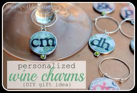 diy monogram wine glasses personalized bunco wine charms easy diy the v spot
