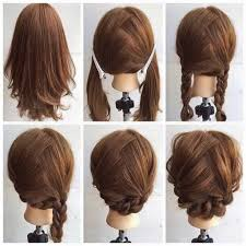 medium length hairstyles with braids fashionable braid hairstyle for shoulder length hair