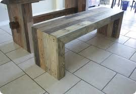 Faux Reclaimed Wood Bench For - Diy west elm emmerson dining table
