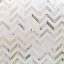 talon calacatta and thassos marble tile chevron pattern stone