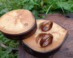 Wood Wedding Rings by Wood Wedding Ring Etsy