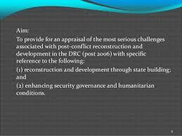 Plus Ca Change Plus La Meme Chose - international peacekeeping challenges in the drc plus ça change plu