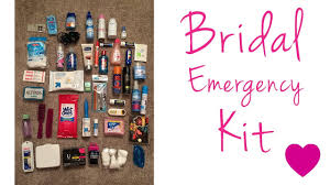 bridal emergency kit travel toiletry kit diy kit youtube