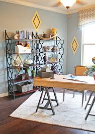 trestle desk in home office eclectic with choosing interior trim