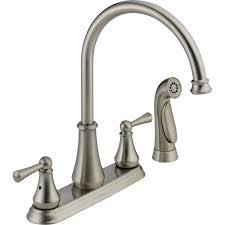 Kitchen Faucets Bronze Bronze High Arc Kitchen Faucet Centerset Two Handle Pull Down