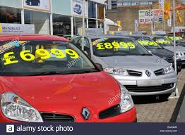 renault cars east london renault car dealer forecourt display of cars with