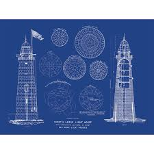 minot ledge lighthouse old blueprints touch of modern
