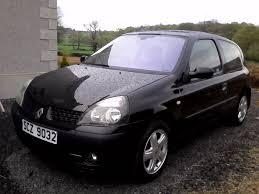 2003 renault clio 1 2 16v dynamique black 3 door alloy wheels