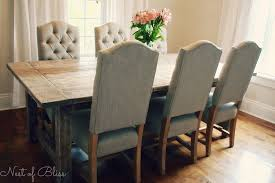 Rustic Farmhouse Dining Table And Chairs Wicker Emporium Dining Chairs Paired With A Rustic Farmhouse Table