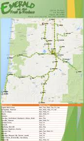 Roseburg Oregon Map Delivery Radius Emerald Fruit U0026 Produce Co Inc