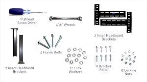 Metal Bed Frame Headboard Attachment Homemakers Tempur Ergo Headboard Installation Youtube