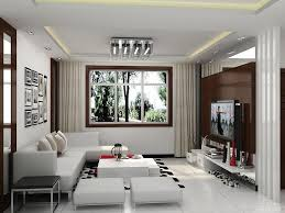 Modern Minimalist White Curtains On The White Wall Modern Small - Design small spaces living room