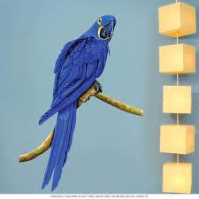 macaw parrot tropical bird wall decal animal decor retroplanet com