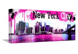 tableau pour chambre b tableau pano pink de york monpopart
