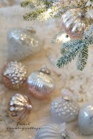 french country blush mercury glass christmas ornaments french