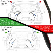 lexus ls430 accessories aftermarket 01 06 lexus ls430 ls 430 xf30 4dr tape on black rain guard window