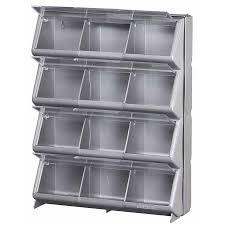 shop stack on 14 13 in x 5 in 12 silver gray plastic desktop