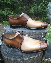 Sho Gatsby two tone derbies with original detailing by stefano branchini