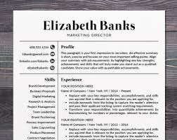 modern resume template resume template cv template for word mac or pc professional