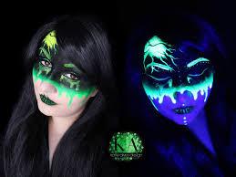 radioactive black light makeup w tutorial by katiealves on deviantart