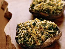 poblano and cheddar stuffed portobello mushrooms recipe grace
