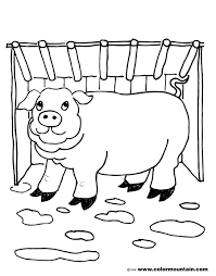 piggy coloring page create a printout or activity
