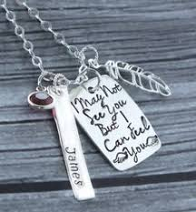 Personalized Remembrance Gifts Memory Necklace Personalized Memorial Jewelry Memory Jewelry
