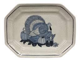 ceramic turkey platter studio potted ceramic turkey platter chairish