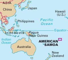 samoa in world map american samoa earth map